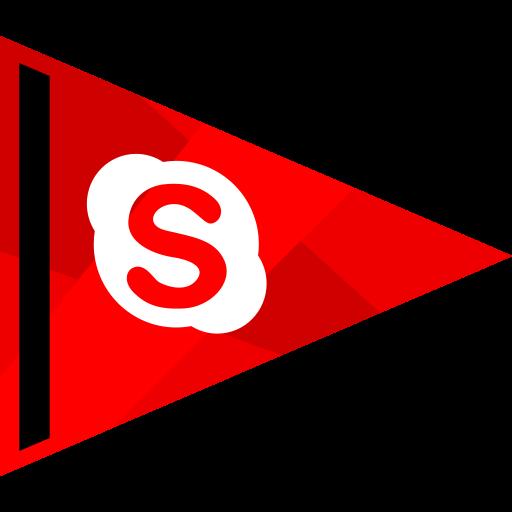 media, online, skyp, social icon