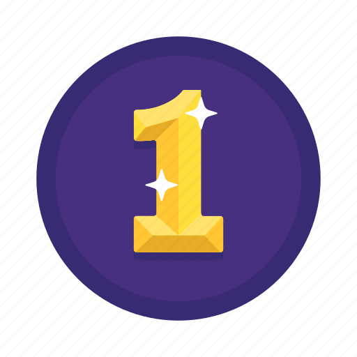 first, number, one, rank icon