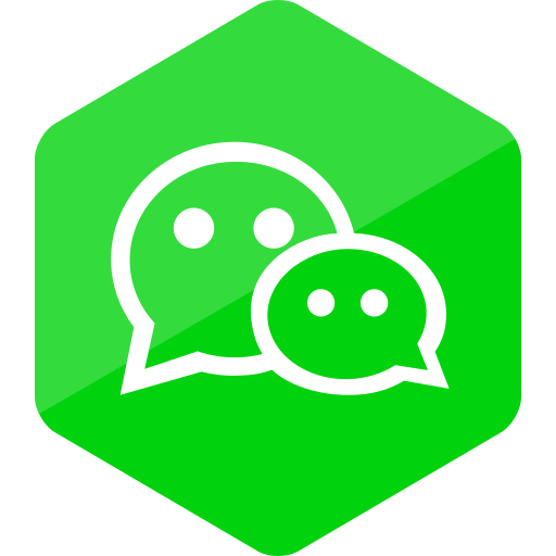 colored, hexagon, high quality, media, social, social media, wechat icon