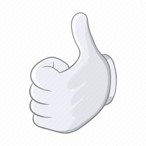 cartoon, good, hand, ok, sign, thumbs, up icon