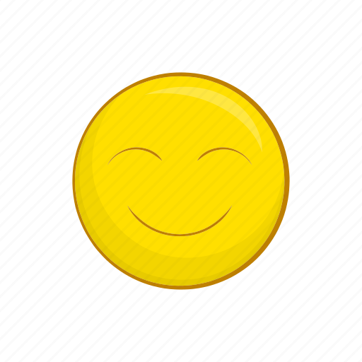 cartoon, face, happy, illustration, sign, smile, smiley icon