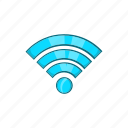 cartoon, internet, router, sign, technology, wi-fi, wireless icon