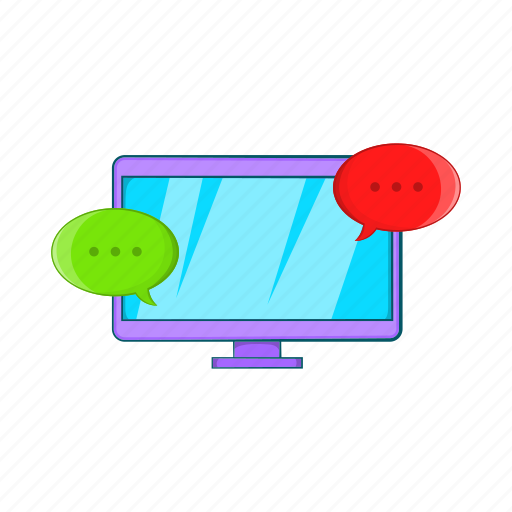 Cartoon Computer Display Messages Sign Technology Icon Download On Iconfinder