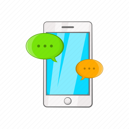 Cartoon, messages, object, phone, sign, sms, style icon - Download on Iconfinder