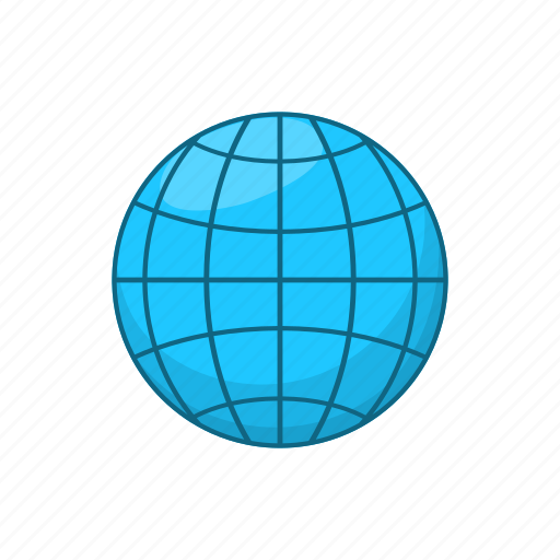 cartoon, earth, global, map, planet, sign, world icon