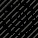 gear, media, profile, setting, social icon
