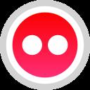 flickr, logo, media, social icon