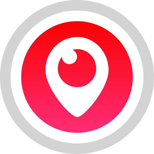 logo, media, periscope, social icon