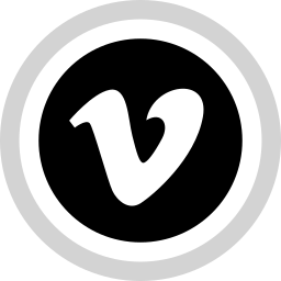logo, media, social, vimeo icon