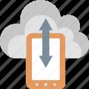 cloud, storage, device, mobile, save, server, upload