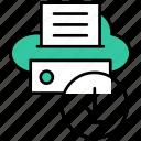 cloud, data, arrow, download, storage, file, hosting