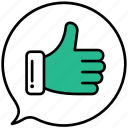 thumbs, up, like, vote, favorite, good, feedback