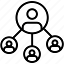 avatar, following, users, social media icon