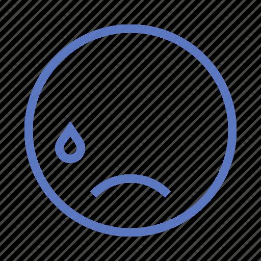 cry, emoji, sad icon