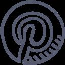 diy, network, outline, pictures, pinterest, sets, social icon