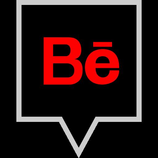 behance, brand, logo, social icon