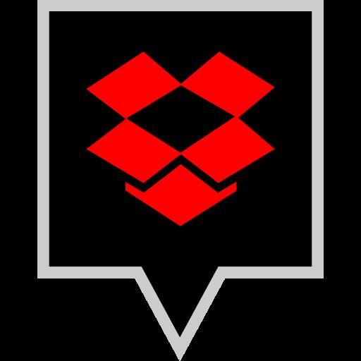 brand, dropbox, logo, social icon