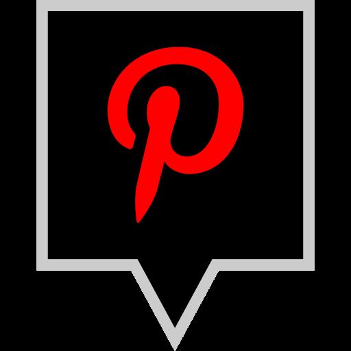 brand, logo, pinterest, social icon