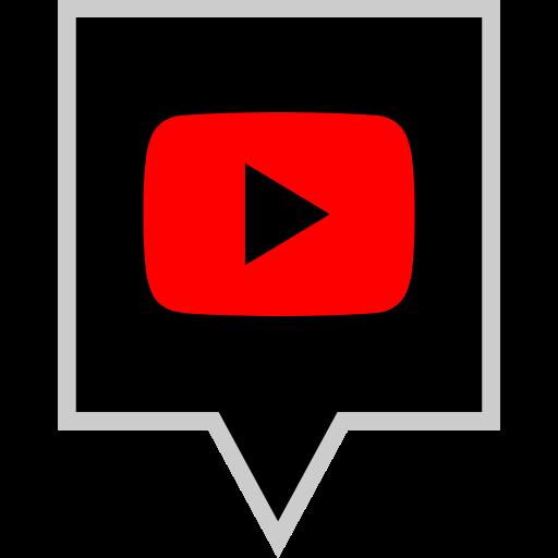 brand, logo, play, social icon