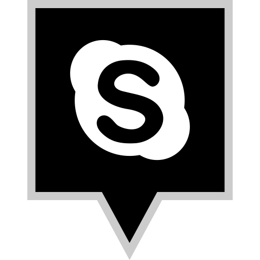 media, skype, social icon