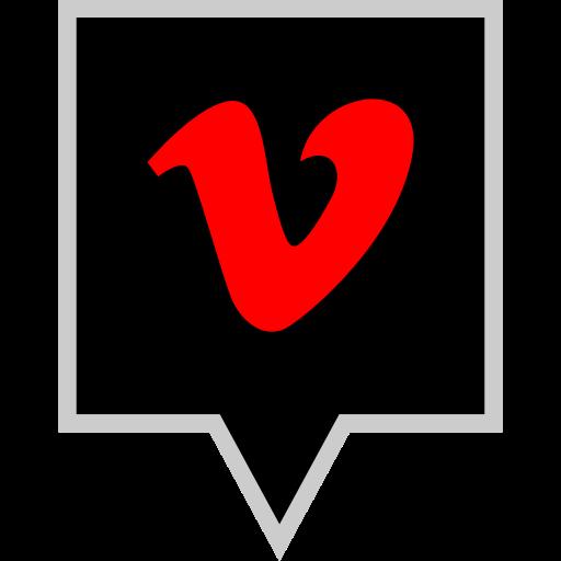 brand, logo, social, vimeo icon