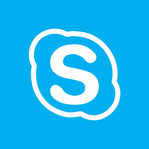 colored, high quality, media, skype, social, social media, square icon