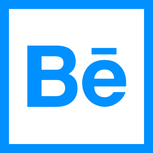 behance, colored, high quality, media, social, social media, square icon