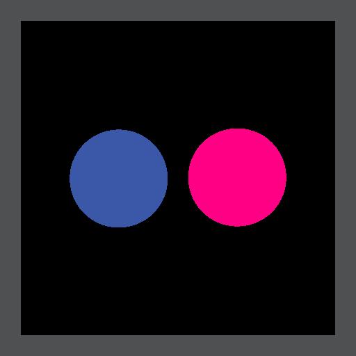 colored, flickr, high quality, media, social, social media, square icon