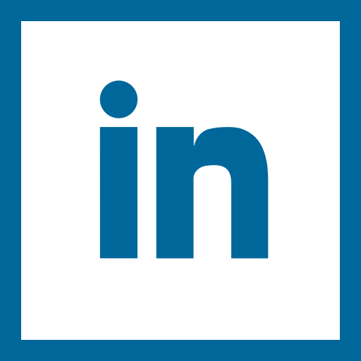colored, high quality, linkedin, media, social, social media, square icon