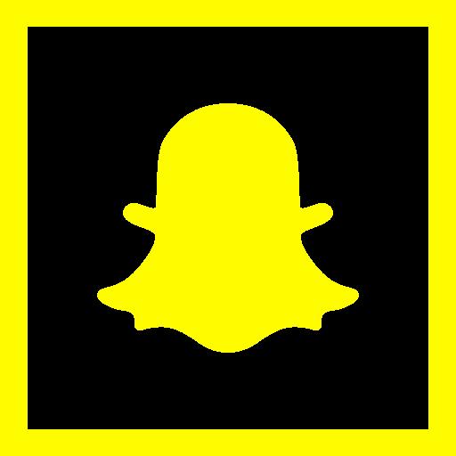 colored, high quality, media, snapchat, social, social media, square icon