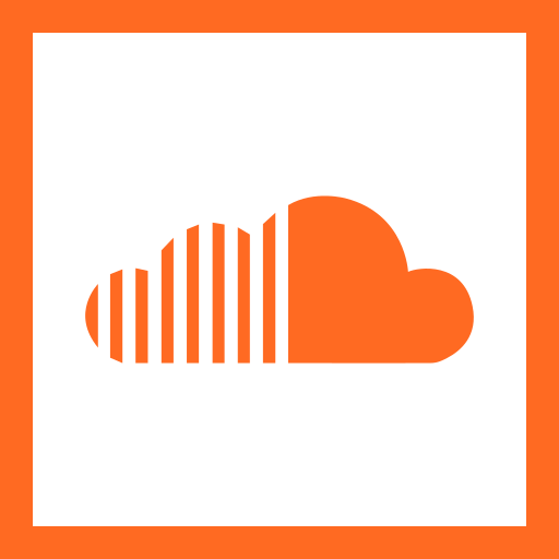 colored, high quality, media, social, social media, soundcloud, square icon