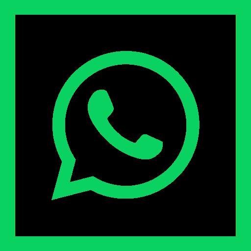 colored, high quality, media, social, social media, square, whatsapp icon