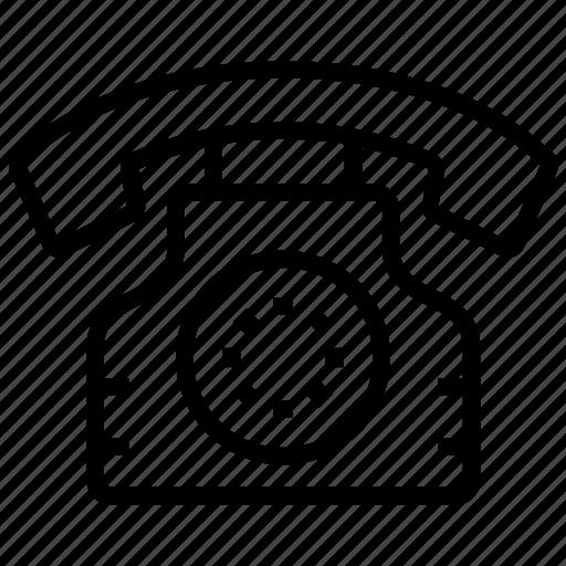 call, phone, telecommunication, telephone, telephone set icon