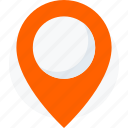 location, logo, map, marker, pin, place, travel icon icon