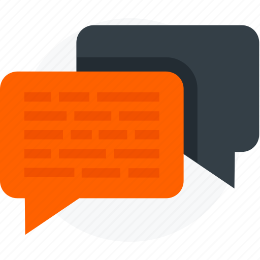chat, keynote, messages icon icon