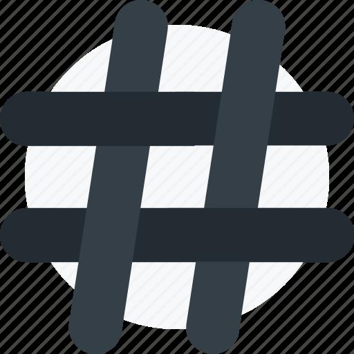 hashtag, social, social media, trend, trending icon icon