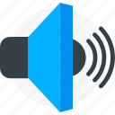audio, music, sound, speaker, volume icon icon