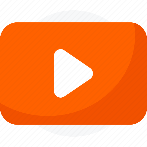 clip, multimedia, play, replay, video, youtube icon icon