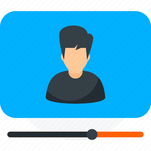 online training course, training video, video conference, video marketing, video tutorial icon icon