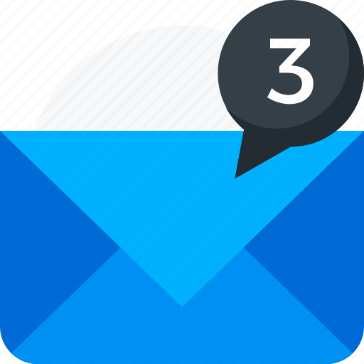email, envelope, mail, message, notification, statement, unread icon icon
