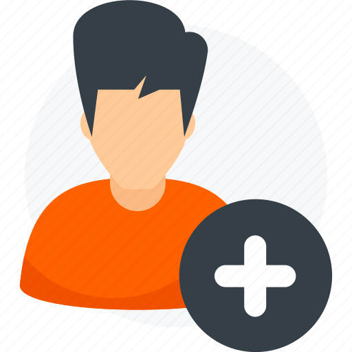 add, create, new, plus, profile, user icon icon
