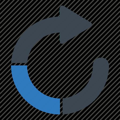 refresh, restore, update icon