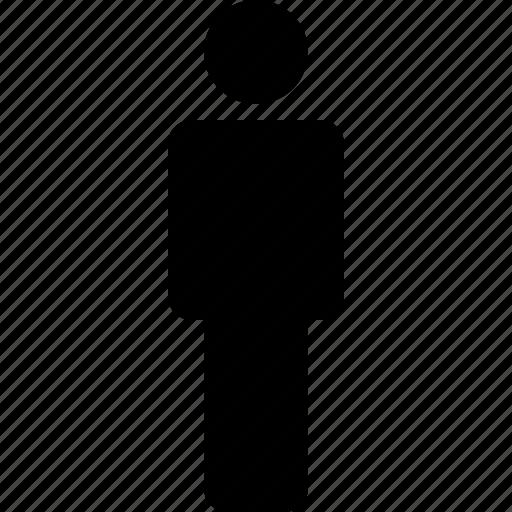 consumer, customer, man, patron, person, standing, user icon