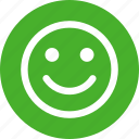face, green, happy, healthy, like, lucky, smile icon