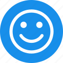 circle, face, happy, healthy, like, lucky, smile icon