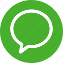 circle, green, bubble, chat, chatting, comment, message