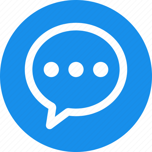 Blue Circle Comment Message Bubble Chat Chatting Icon