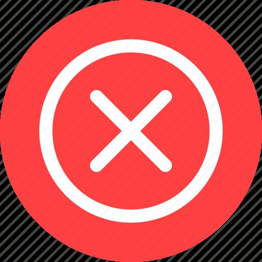Circle, cancel, close, delete, denied, discard, dismiss icon - Download on Iconfinder