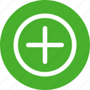 add, circle, green, linecon, more, plus, round icon