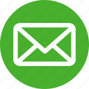 circle, email, envelope, letter, mail, message, messages icon